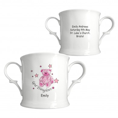 T & S Pink Goddaughter China Loving Cup 1