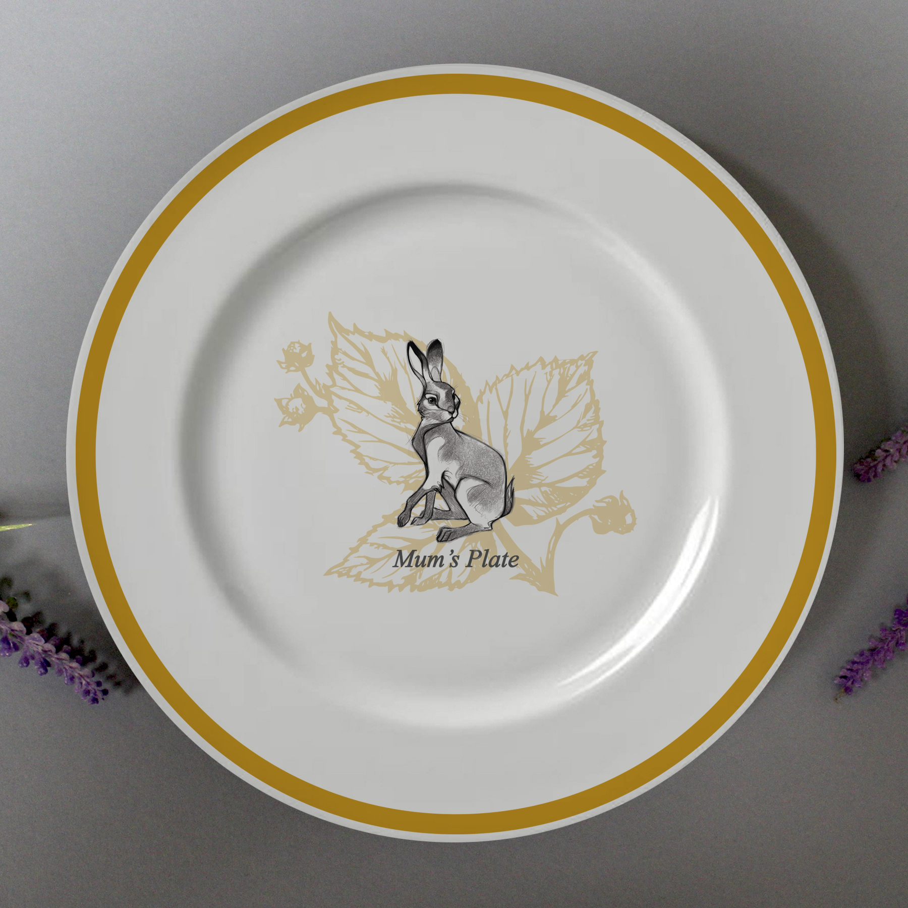 """Watership Down 8 Rimmed Plate - Clover"""" 1"""