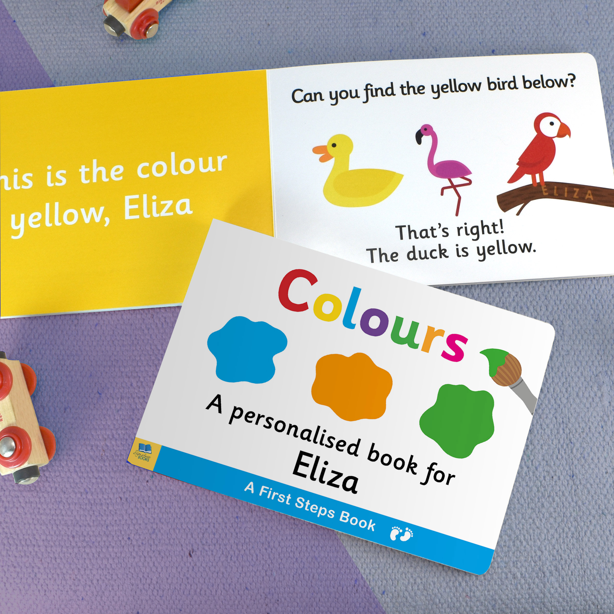 First Steps Colours Personalised Board Book 1
