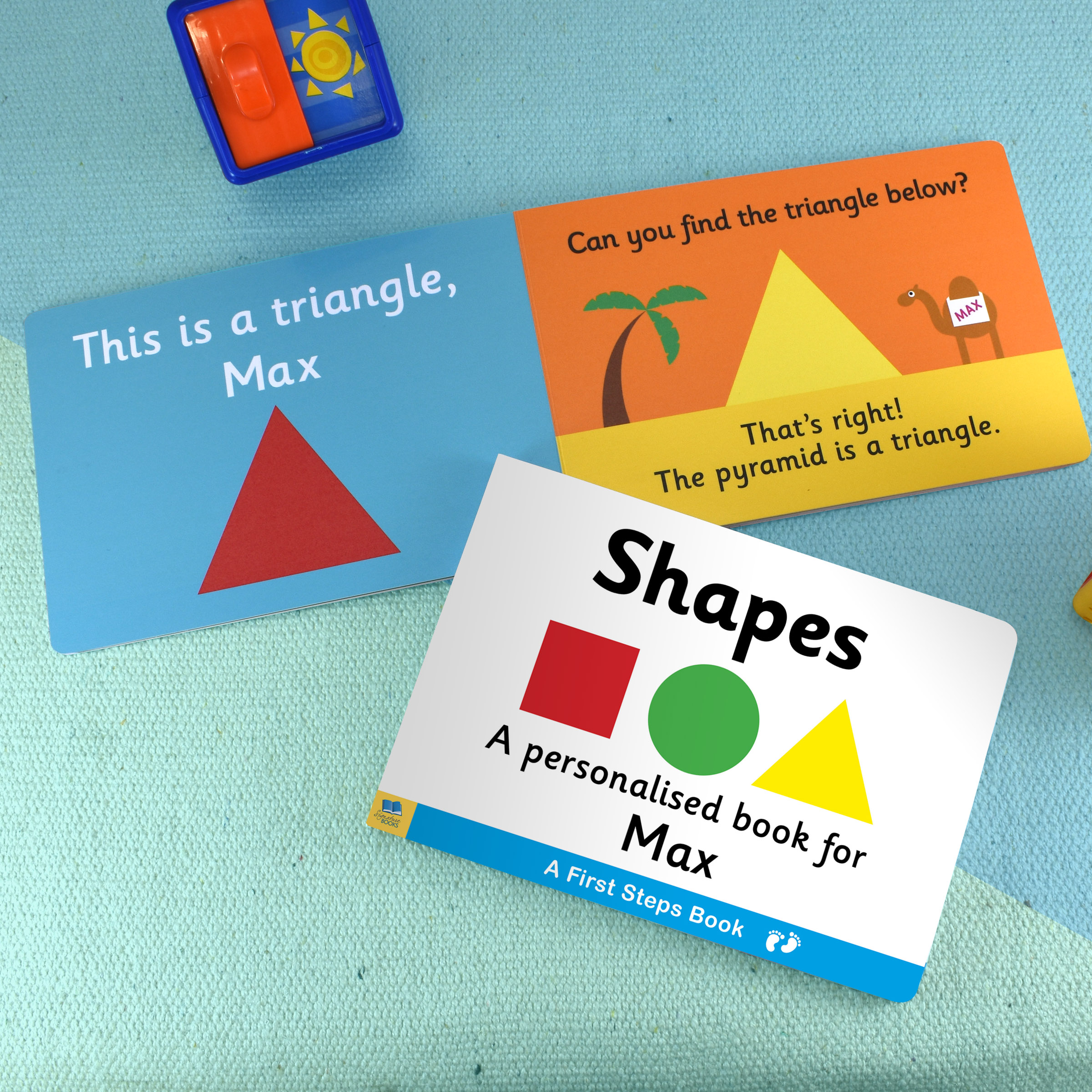 First Steps Shapes Personalised Board Book 1
