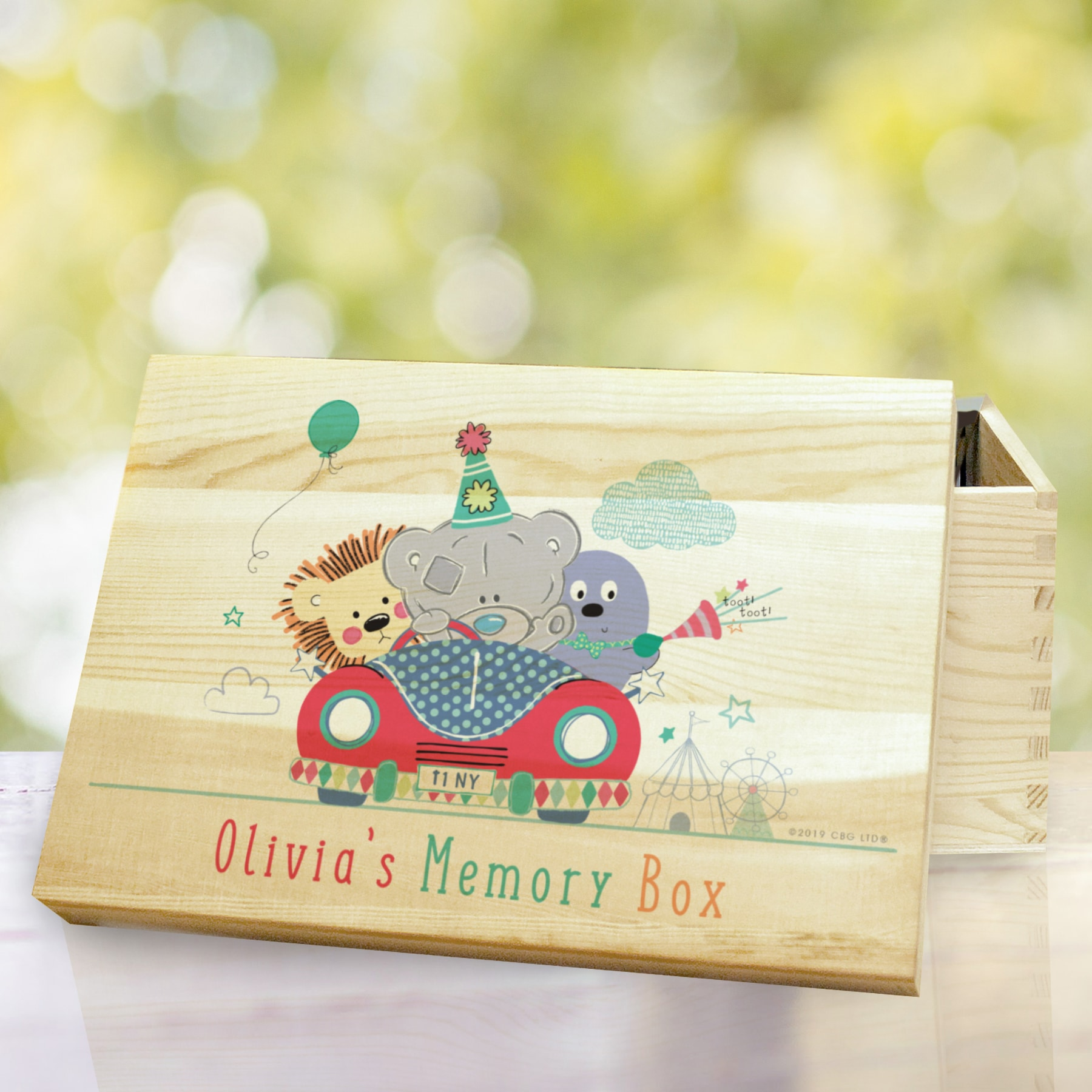 Tiny Tatty Teddy Little Circus Wooden Memory Box 1