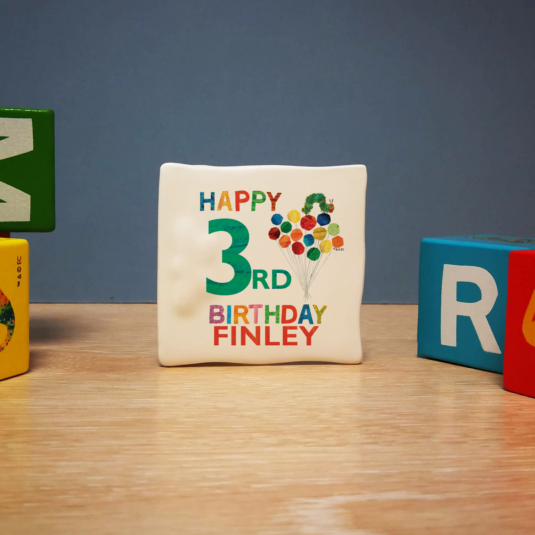 Very Hungry Caterpillar Birthday Message Card 1