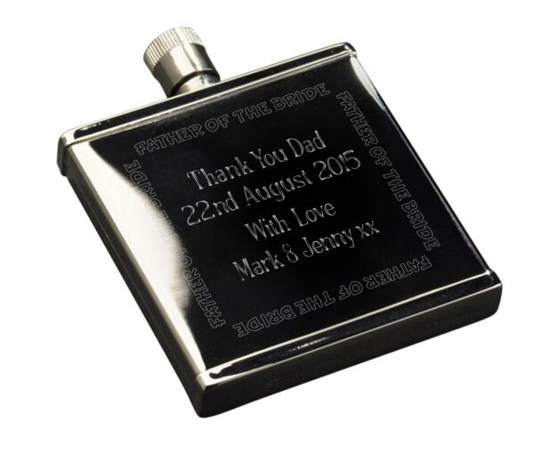 Wedding Party S/S 2oz Hipflask