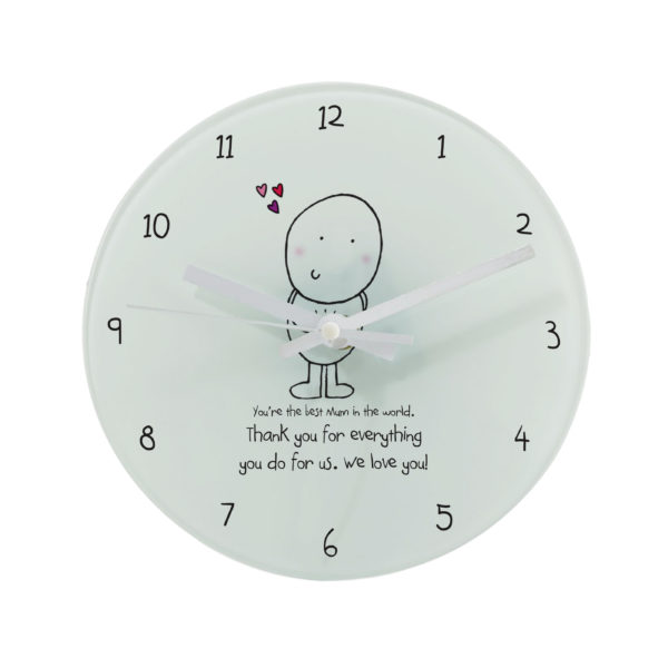 Chilli & Bubbles Mother's Day Round Clock