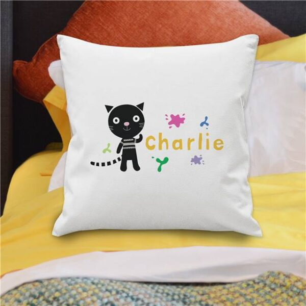 Arty Mouse Single Character Cushion