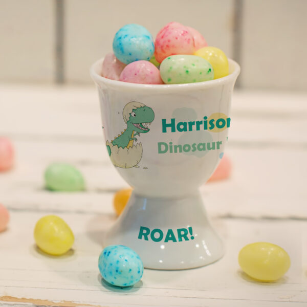 Green Dinosaur Footed Egg Cup