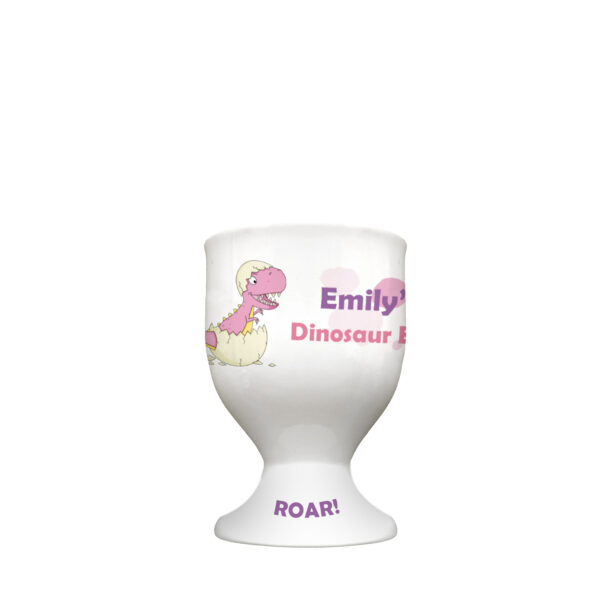 Pink Dinosaur Footed Egg Cup