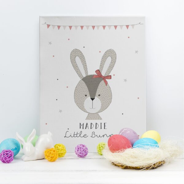 Little Bunny Pink Canvas