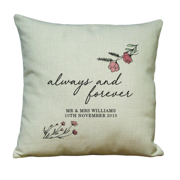 Always and Forever Linen Look Cushion