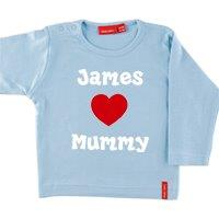 PERSONALISED CHILD T SHIRT LONG SLEEVE WITH A NAME AND A SLOGAN