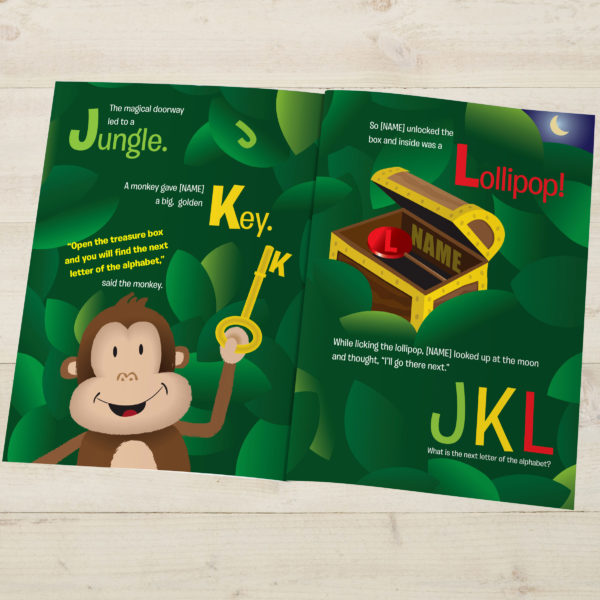 Personalised Children's Book Your Child In Alphabet World Softcover