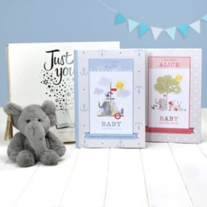 Baby Record Book with Plush Elephant