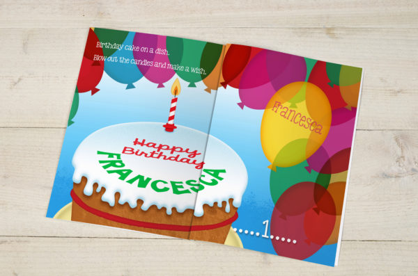 Personalised Children's Birthday Counting Book