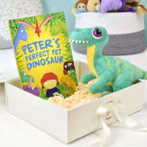 Perfect Pet Dinosaur Personalised Book and Plush Toy Giftset