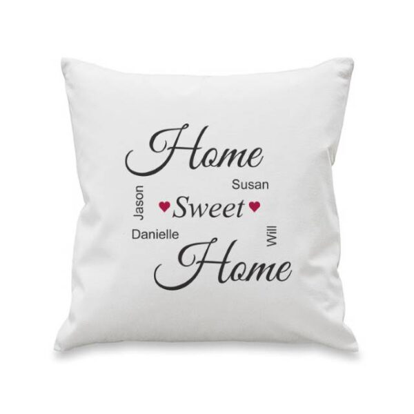 Home Sweet Home Personalised Cushion