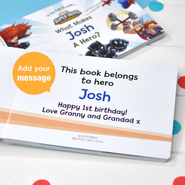 Personalised Toddlers Marvel Board Book What Makes Me a Hero