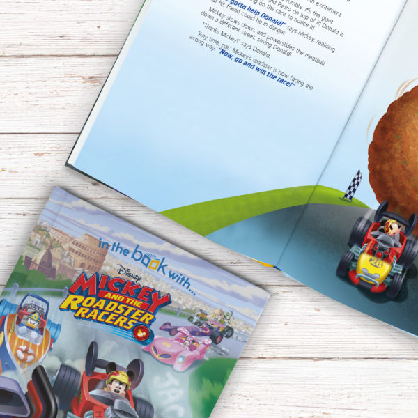 Personalised Disney Jr Mickey and the Roadster Racers Story Book - Softcover