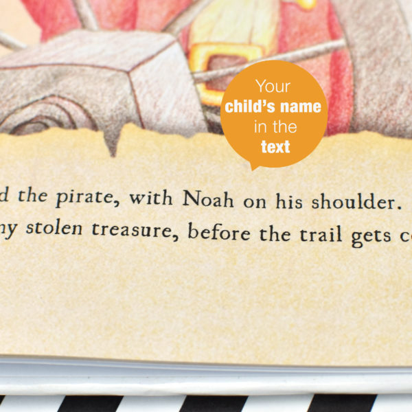 Personalised Children's Pirate Story Book - Softcover