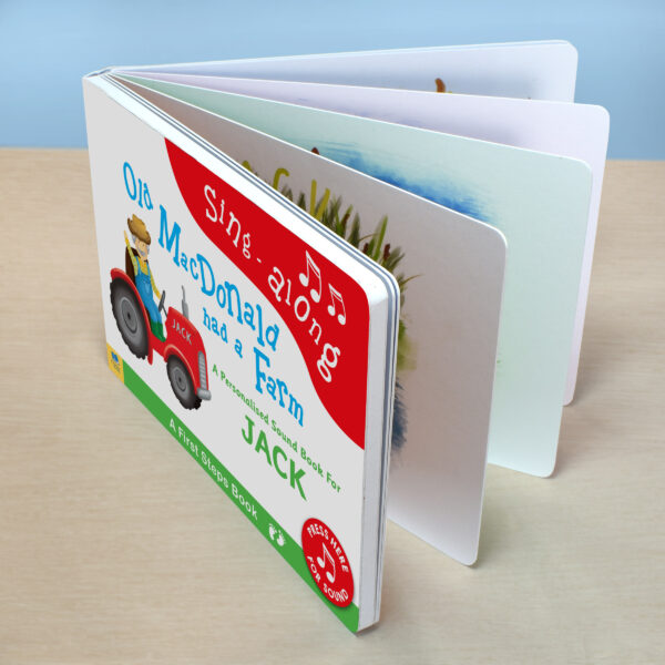 Personalised Children's Book Old Macdonald Sound Book Sing A Long