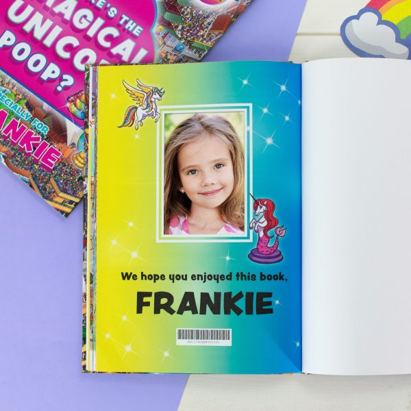 Personalised Children's Book Where's the Magical Unicorn Poop