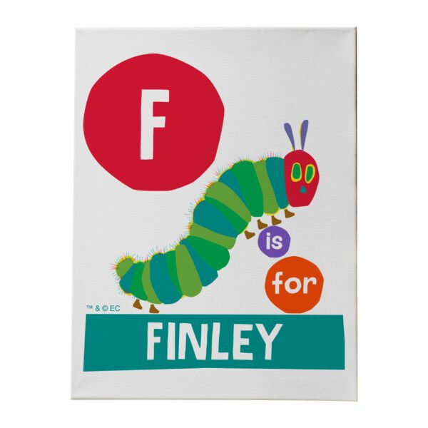 Very Hungry Caterpillar Dot Initial Canvas