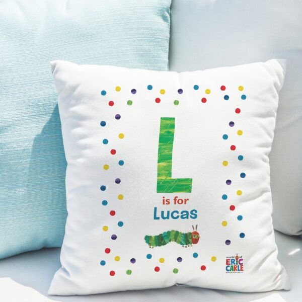 Very Hungry Caterpillar Spotty Initial Cushion