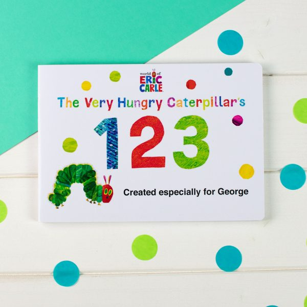 Personalised Children's Book Very Hungry Caterpillar Board Book – Counting 123