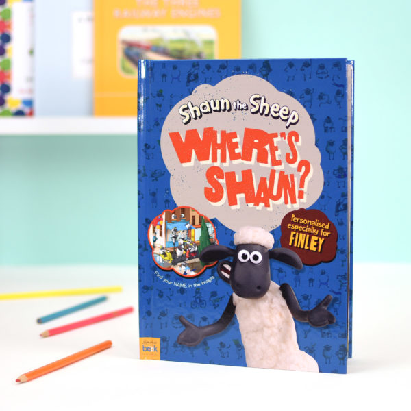 Personalised Activity Book Where's Shaun? - Softcover