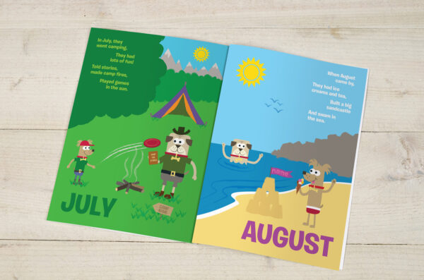 Months of the Year Personalised Children's Book