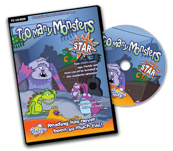Too Many Monsters Personalised CD Great For Kids' Interactive Learning