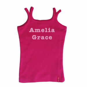 Child's Singlet Personalised with a Name or a Slogan Unique Gift