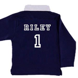 Child's Rugby Shirt Personalised with Child's Name